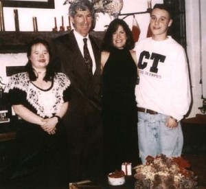 Ian with sister, mom Ginger Katz, and stepfather Larry Katz