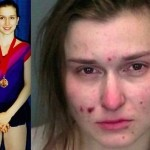 Kerri Blakinger, Ivy League student and promising figure skater, before and after her heroin addiction.
